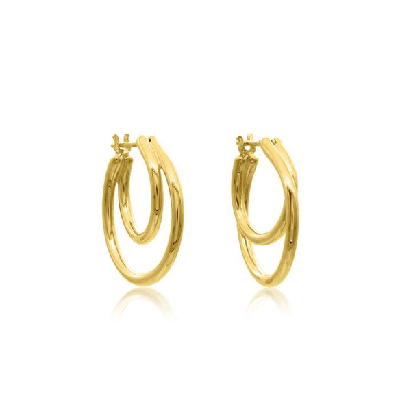 Linda Tahija Helix Hoop Earrings, Gold/ Silver