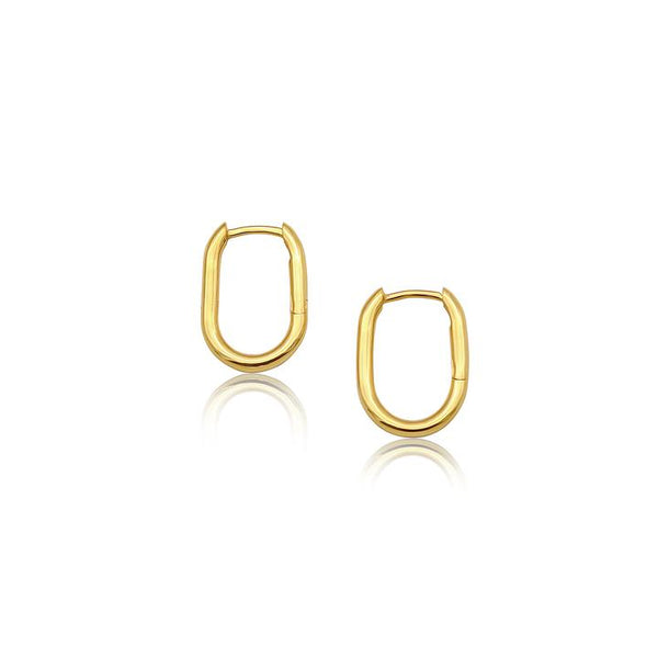 Linda Tahija Oval Hoop Earrings, Gold