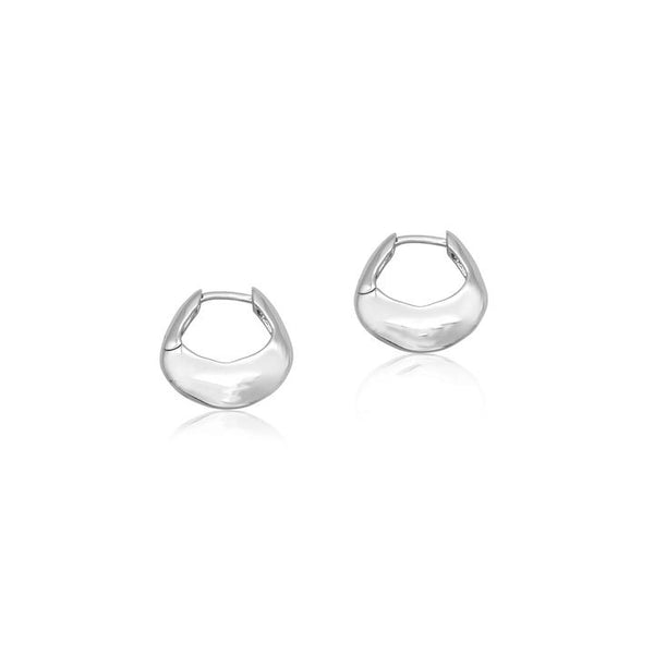 Linda Tahija Tote Hoop Earrings, Silver
