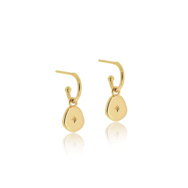 Linda Tahija Vega Hoop Earrings, Gold