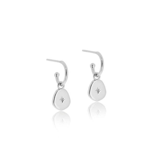 Linda Tahija Vega Hoop Earrings, Silver