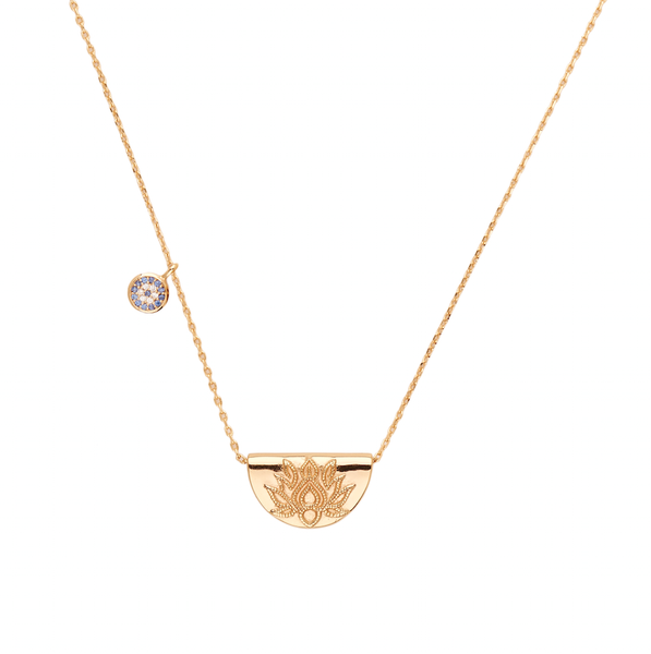 By Charlotte Lucky Lotus Necklace, gold