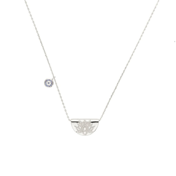 By Charlotte Lucky Lotus Necklace, silver