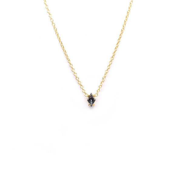 Natalie Marie Mai Pendant, Grey Spinel, Gold
