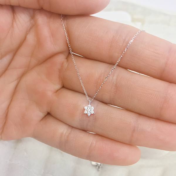 By charlotte 14k white gold crystal lotus flower necklace mightylinksfo
