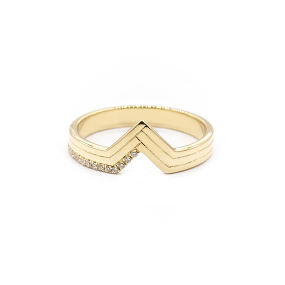 Natalie Marie Diamond Chione Ring, Gold