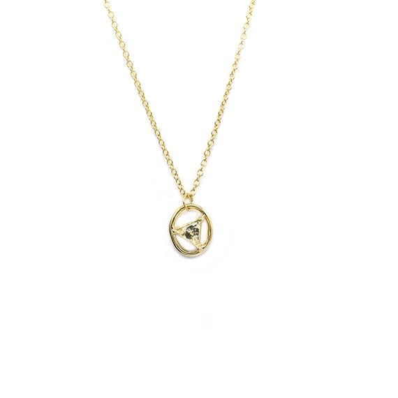 Natalie Marie Nawa Stone Necklace, Heliodor, Gold