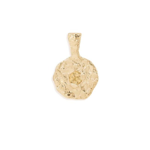 By Charlotte November Citrine Birthstone Pendant: Gold/ Rose Gold/ Silver