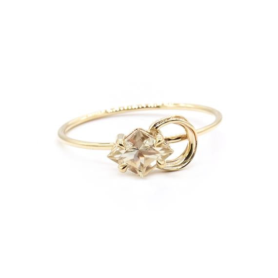 Natalie Marie Nuna Stone Ring, Gold