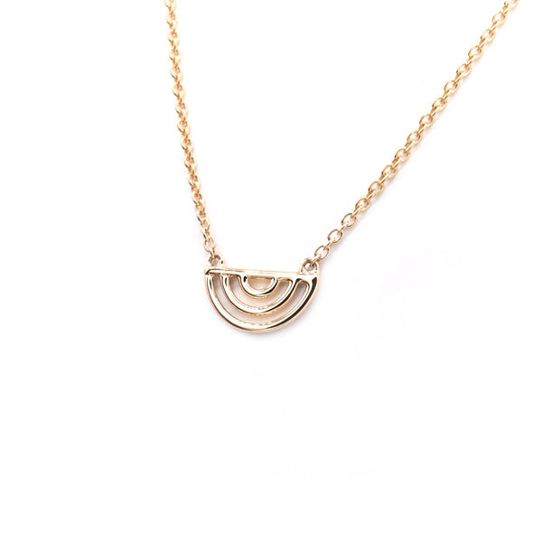 Natalie Marie Ochre necklace, rose gold
