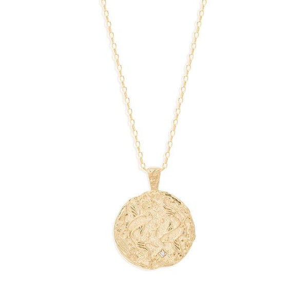 By Charlotte Pisces Zodiac Necklace: Gold/ Rose Gold/ Silver