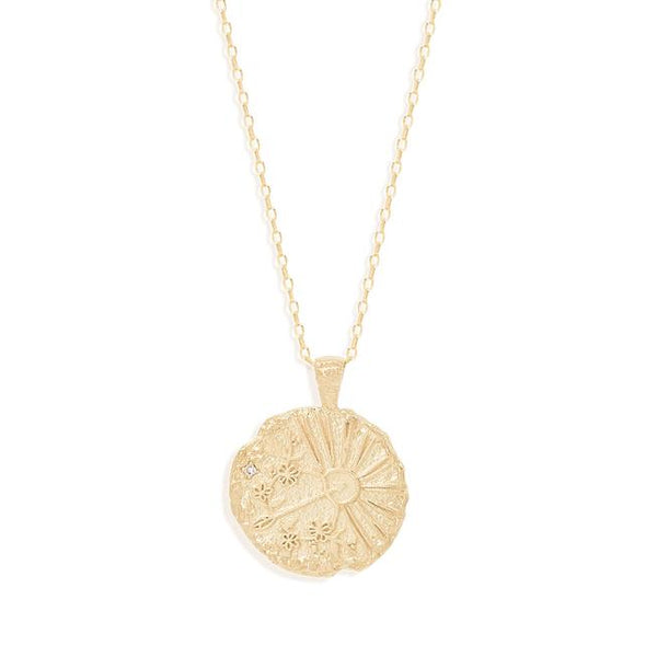 By Charlotte Sagittarius Zodiac Necklace: Gold/ Rose Gold/ Silver