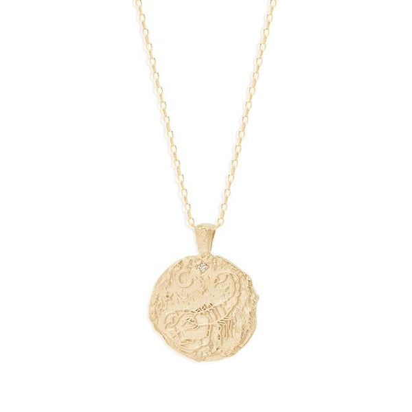 By Charlotte Scorpio Zodiac Necklace: Gold/ Rose Gold/ Silver