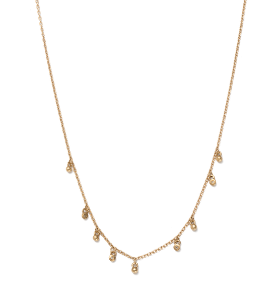 Kirstin Ash Moon Sea Mist necklace, 9k gold