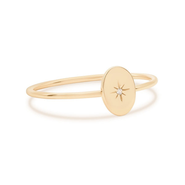 By Charlotte 14k Gold Shine Your Light Ring
