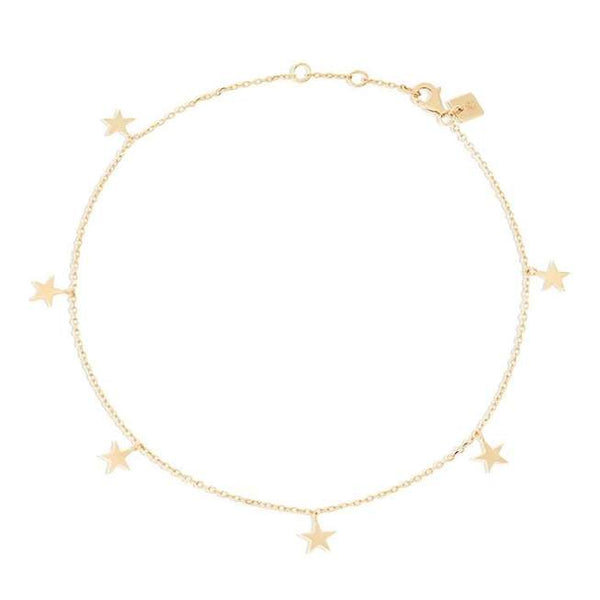 By Charlotte Star Bright Anklet, Gold