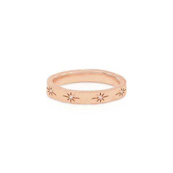 By Charlotte Stardust Ring, Rose Gold