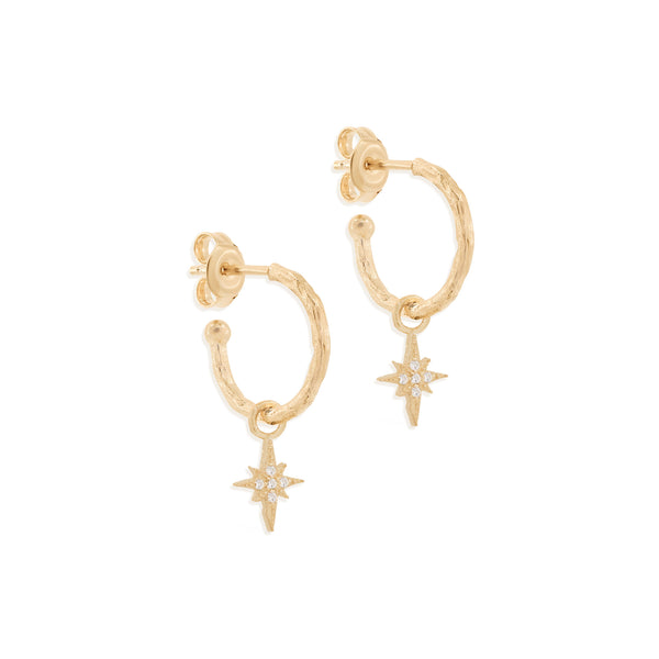 By Charlotte Starlight Hoops, Gold