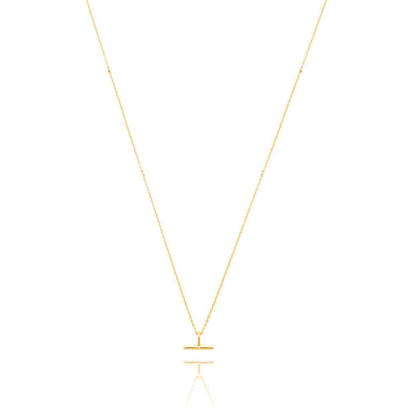 Linda Tahija Mini T-Bar Necklace Gold