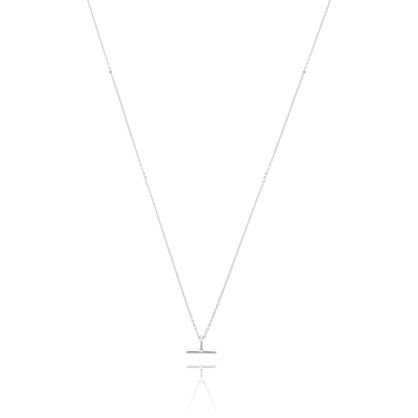Linda Tahija Mini T-Bar Necklace Silver