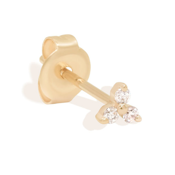 By Charlotte 14k Gold Twilight Diamond Single Stud Earring