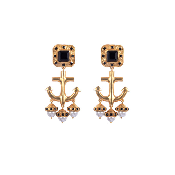 Valere Nautical Earrings, Black Onyx