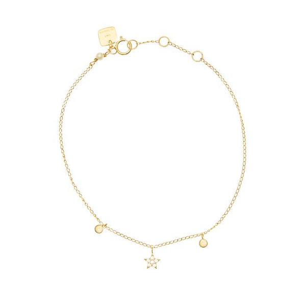 By Charlotte 14k Gold Diamond Venus bracelet