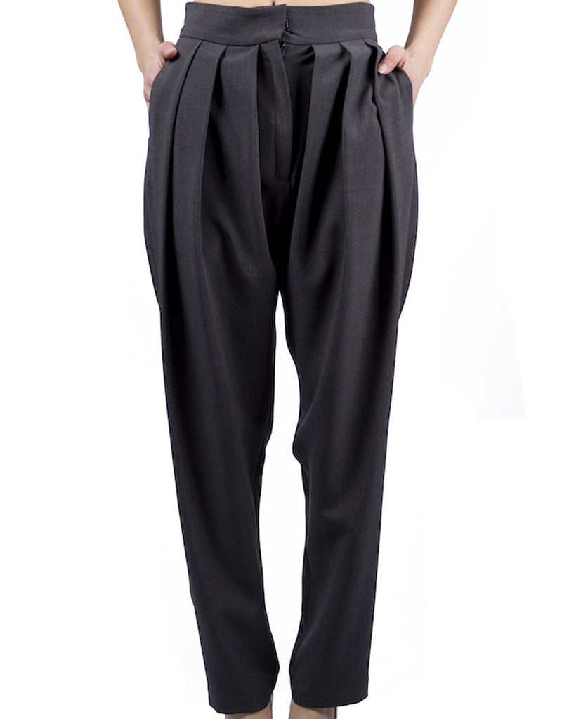 Draped Trousers - Oxford Gray