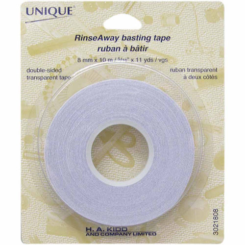 UNIQUE Rinse Away Basting Tape 8mm x 10m (2450992398396)