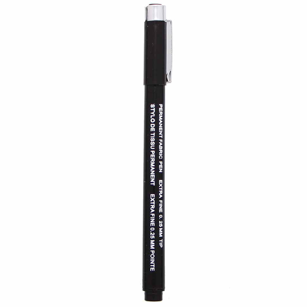 HEIRLOOM Permanent Fabric Pen - Black - Extra Fine (2352056401980)