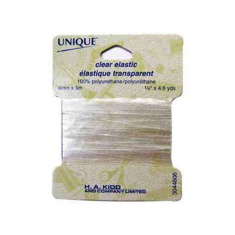 Clear Elastic 6mm x 5m by UNIQUE (2514940788796)