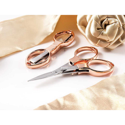 Rose Gold Folding Scissors (4509943431228)