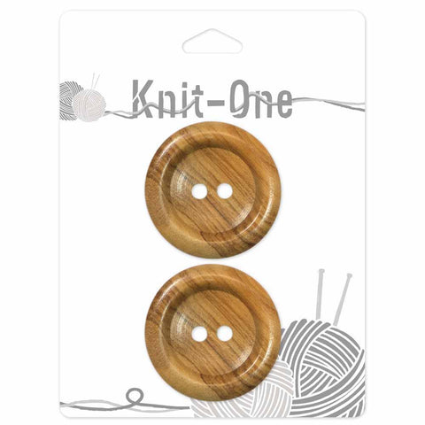 "Natural-Wood Button -Set of 2-  38mm (11⁄2"") (2352058073148)"