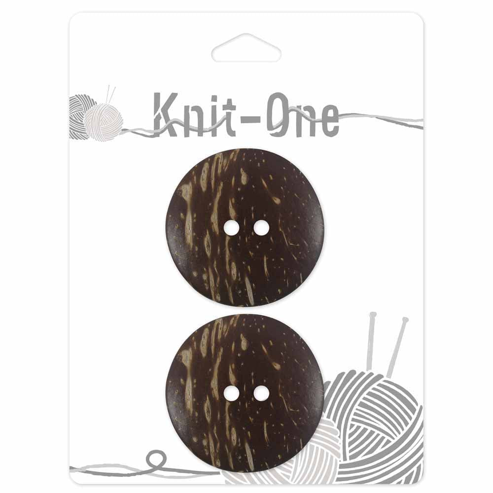 "Brown-Coconut Button - Set of 2- 38mm (11⁄2"")"
