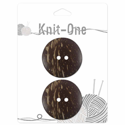 "Brown-Coconut Button - Set of 2- 38mm (11⁄2"") (2352058761276)"