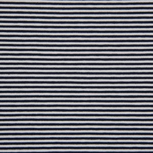 Navy-White Mini Stripes,  Jersey Knit Fabric, European knits