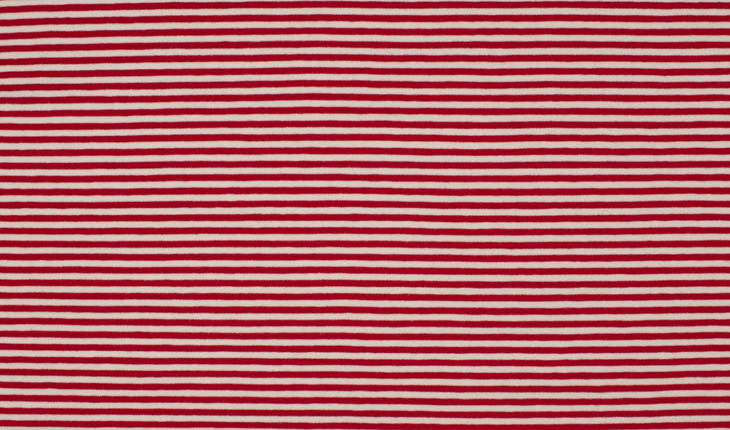 Red-White 0.3cm Stripes, Knit Fabric, European knits