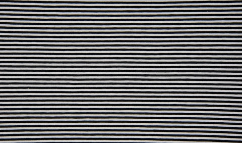 Black-White Mini Stripes,  Oeko-Tex 100 Certified, Knit Fabric, European knits