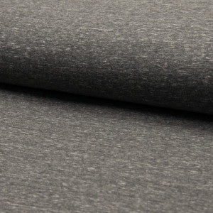 Melange Jogging - Dark Grey, Sweatshirt Knit Fabric by the 1/2 Meter, European knits