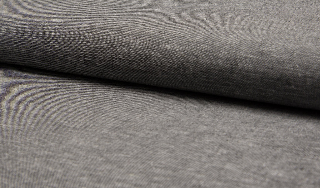 Black, Linen/Viscose Fabric, per 1/2 meter (2540061458492)
