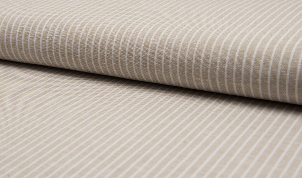 Sand Stripes, Linen/Viscose Fabric, per 1/2 meter