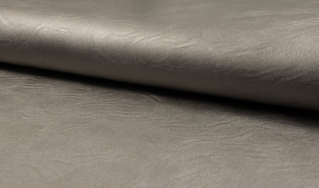 Gunmetal, Jersey Leather  by the 1/2 Meter, European knits