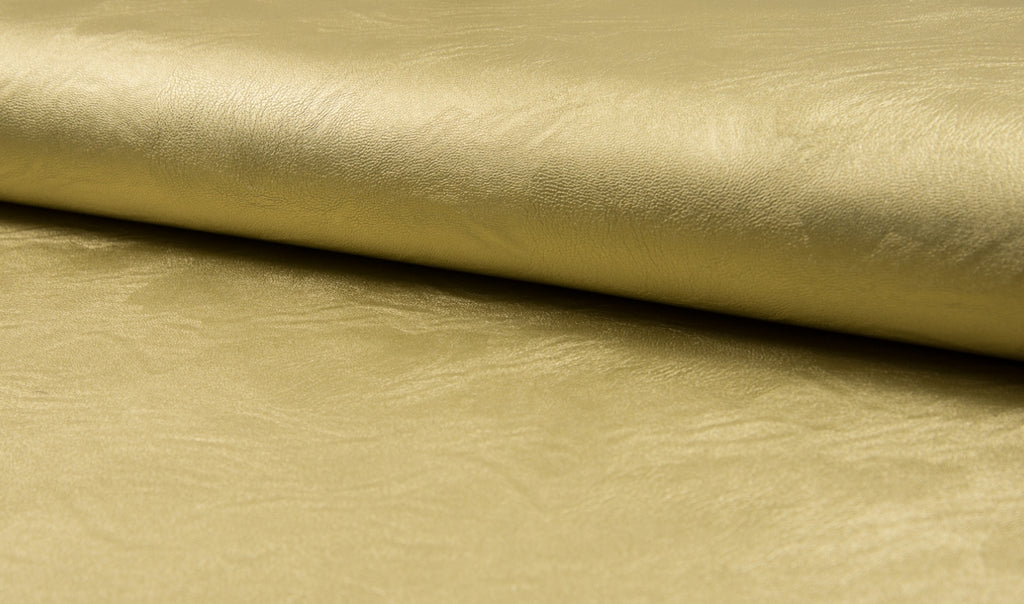 Gold, Oeko-Tex Certified, Faux Leather by the 1/2 Meter, European knits