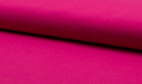 Fuchsia, Solids, Oeko-Tex 100 Certified, Knit Fabric by the 1/2 Meter, European knits
