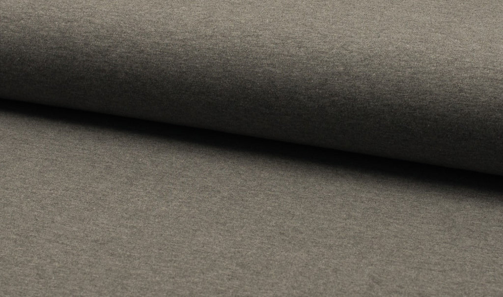 Mid Grey Melange, Solids, Oeko-Tex 100 Certified, Knit Fabric by the 1/2 Meter, European knits