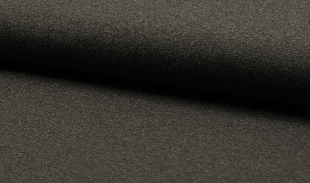 Charcoal Melange, Solids, Oeko-Tex 100 Certified, Knit Fabric by the 1/2 Meter, European knits (11853844303) (6589888757945)