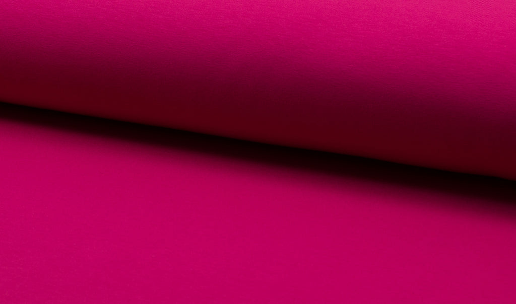 Fuchsia, Solids, French Terry Brushed Knit Fabric by the 1/2 Meter, European knits
