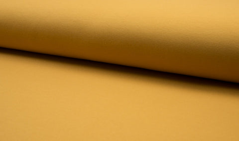Mustard, Solids, French Terry Brushed Knit Fabric by the 1/2 Meter, European knits (182950035484)