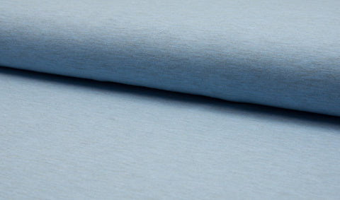 Heather Light Blue, Solids Jersey, Oeko-Tex Certified, Knit Fabric by the 1/2 Meter, European knits