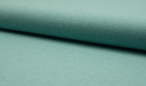 Heather Mint, Solids Jersey, Oeko-Tex Certified, Knit Fabric by the 1/2 Meter, European knits